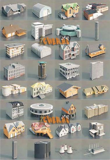 3d модели 3d модели зданий