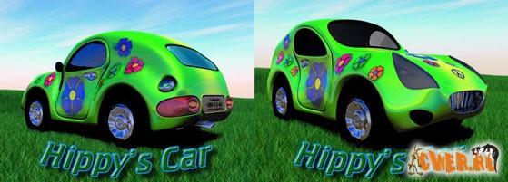 3D-модель Hippy's Car Toon