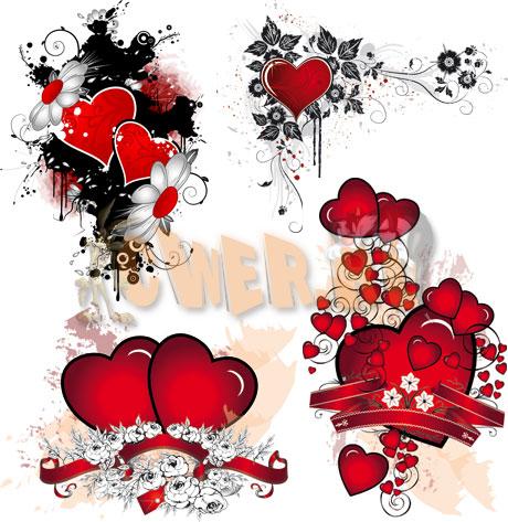 Векторные сердца