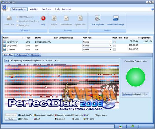 Raxco PerfectDisk 2008 Professional build 39