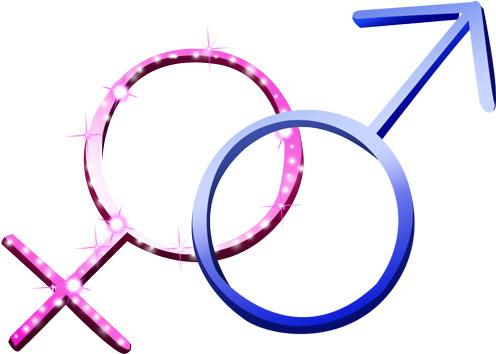 Векторные знаки - мужчина и женщина