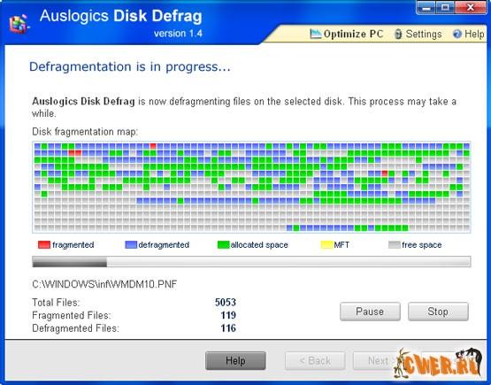 Auslogics Disk Defrag 1.4.14.300