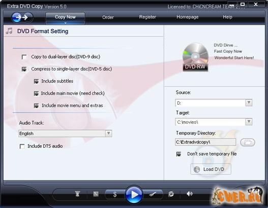 Extra DVD Copy 2008 5.0