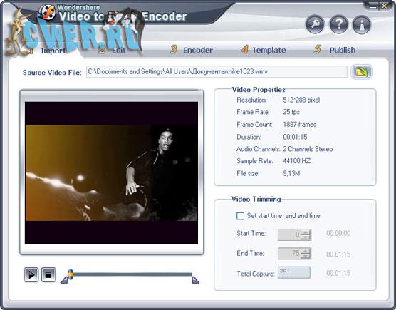 Wondershare Video To Flash Encoder 2.4.76
