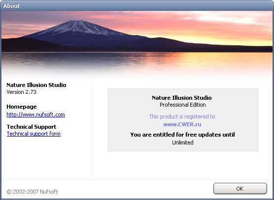 Nufsoft Nature Illusion Studio 2.73