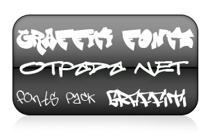 300 graffiti fonts