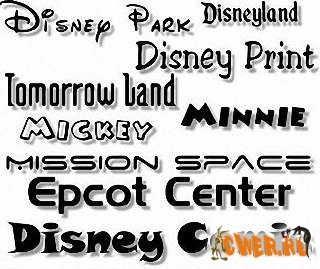 Disney Fonts Pack