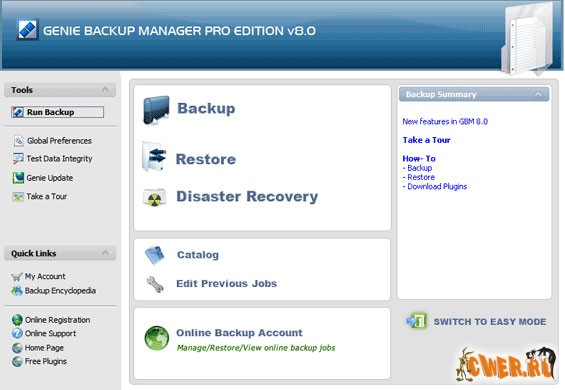 Genie Backup Manager Professional 8.0.293.463