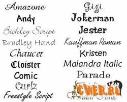 Paradise 2800 fonts