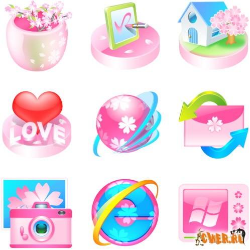 Розовые иконки