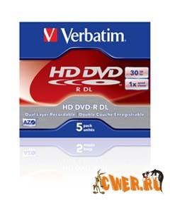 Первые односторонние 30-гигабайтные диски HD DVD-R DL от Verbatim