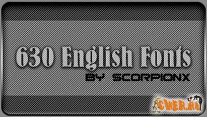 630 English Fonts