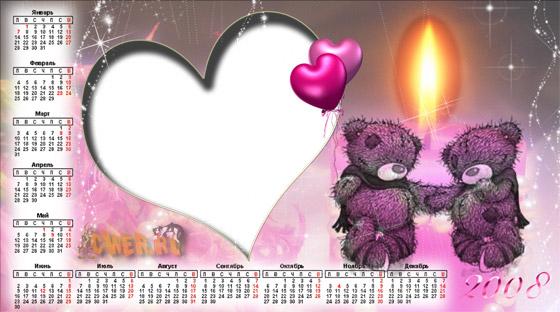 Календарь-рамочка с мишками Teddy