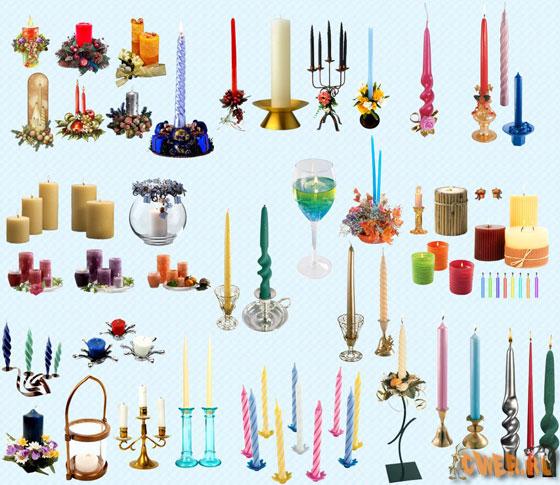 Свечи - клипарт в PNG