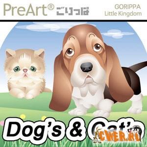 Собаки и кошки в векторе