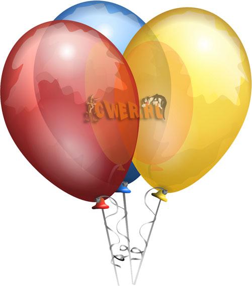 Векторные клипарты - Воздушные шары
