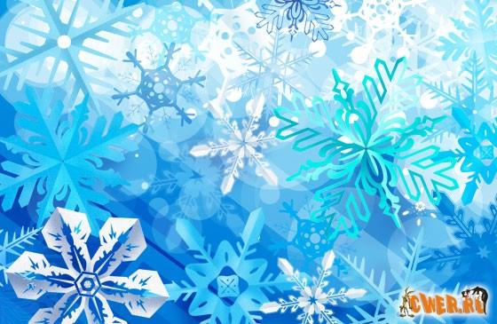 Снежинки - PSD файл с клипартами