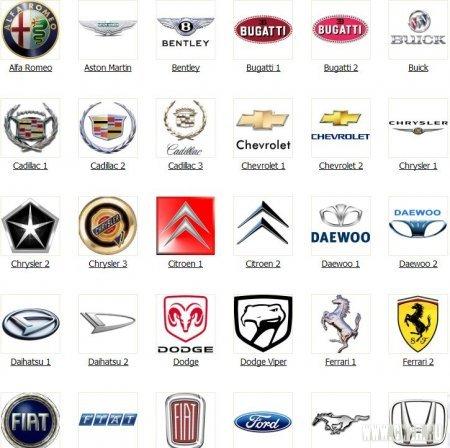 Логотипы автобрендов