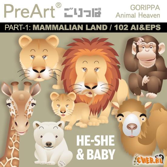 Векторный клипарт от PreArt Gorippa - Animal Heaven Vol.01