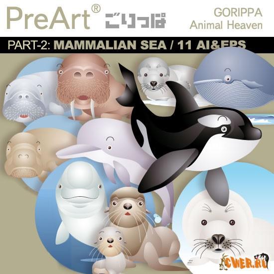 Векторный клипарт от PreArt - Animal Heaven Vol.02