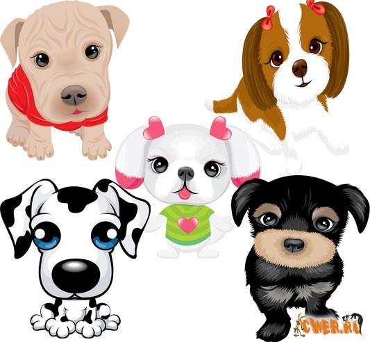 Дог-шоу - векторные клипарты собак для Illustrator