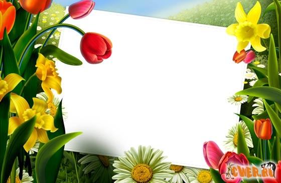 Цветочная рамочка для оформления фото в Photoshop