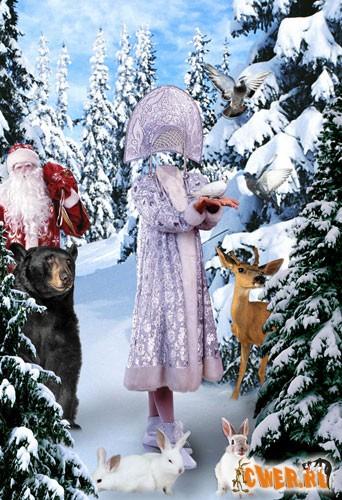 Снегурочка - костюм для фото-монтажа