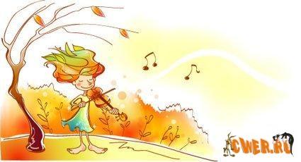 Векторный клипарт - Осень