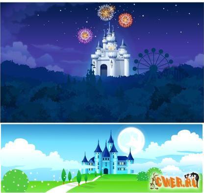 Векторный клипарт - Волшебные замки