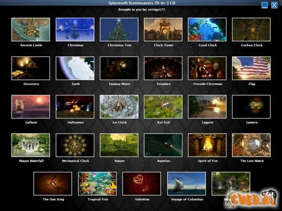 3planesoft Screensavers 29 в 1 CD