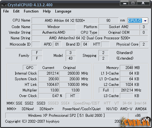 CrystalCPUID 4.13.2.400