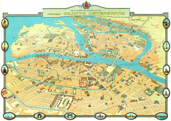 План-панорама Санкт-Петербурга